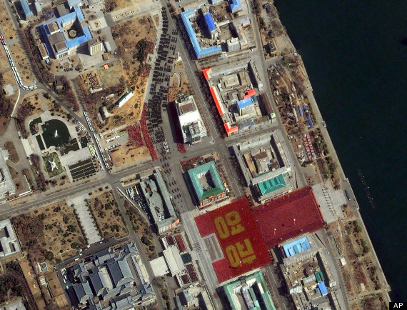 North Korean Parade from Space