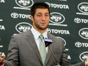 Jets quarter back Tim Tebow.