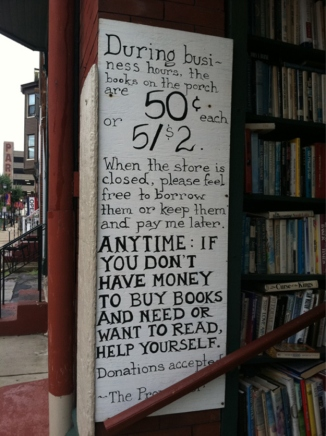 Book Shop Sign.
