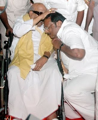 M.K.Azhagiri and Karunanidhi