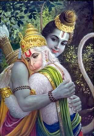 Lord Rama and Hanuman.