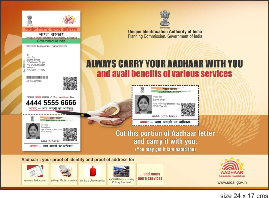 Aadhar Card,India