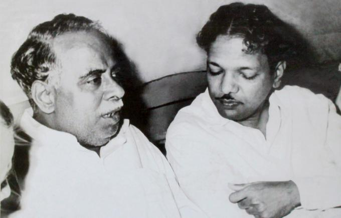 Image result for Karunanidhi with Annadurai
