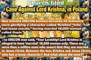 Lord Krishna case.