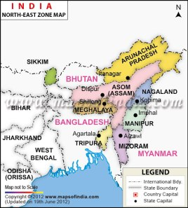 North east territory of India