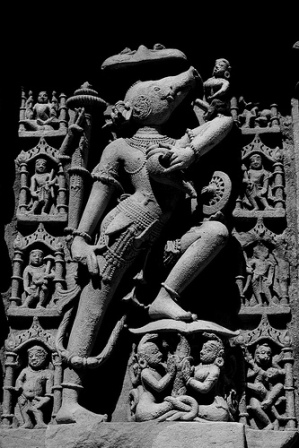 Varaha Avatar by Sudhamshu. Varaha Image (Not the Mathura Temple) : Source : http://www.flickr.com/photos/sudhamshu/3338614940/