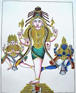 Shiva with three Legs