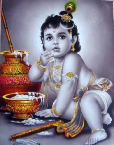 Lord Krishna as a child