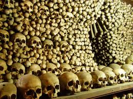 The total number of human skeletal remains unearthed from a mass grave ...