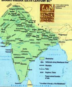 Ancient India Map according to Hindu Texts