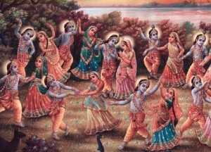 The Rasa krida of Krishna