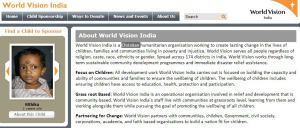 Ad for World Vision