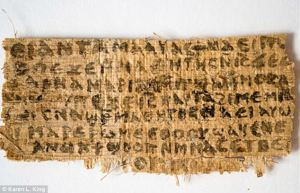 Papyrus sys Jesus was married and it is auhentic