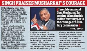 VK Singh praises Musharaff