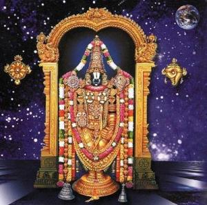 Moon shines on Balaji's Forehead