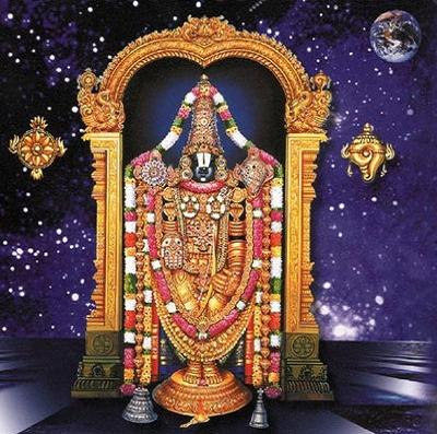 Moon shines on Balaji's Forehead.jpg