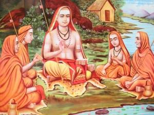 Shankaracharya with His disciples