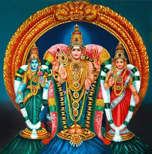 Murugan with Valli and Devasena