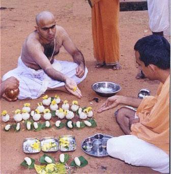 Sraddha being performed.jpg