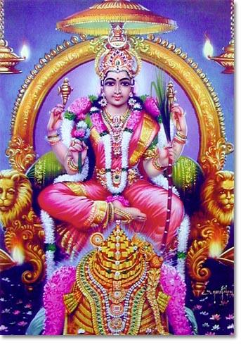 Lalitha Mahatripura Sundari with Sri Chakra.jpg