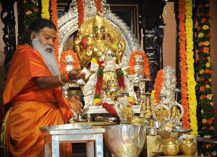 Navavarana Pooja being performed.jpg