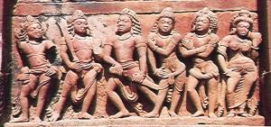 Pandavas with Draupadi.jpg