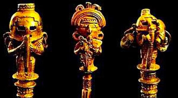 Seen here are ancient artifacts from South America. Was Sri Ganesha's 'trunk' really a 'breathing apparatus'.