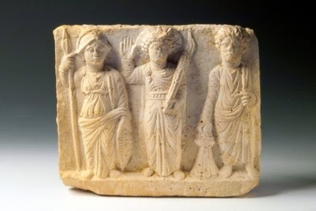 Syrian Archeological Finds, Krishna,Balaraa and Subhadra or Rama ,Lakshmana and Sita?image.jpg