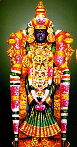 Akhiladeswari with ear ring,Tiruvanaikaval.