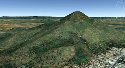 Arunachala, Google Earth.jpg