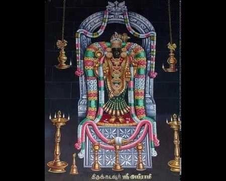 Goddess Abhirami, Thirukkadavur. Moolavar.jpg
