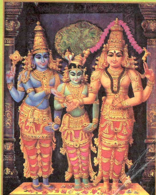Meenakshi married to Lord Shiva as Sundareswara.jpg