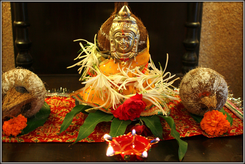 Parvathi as Gowri for Gowri habba.jpg