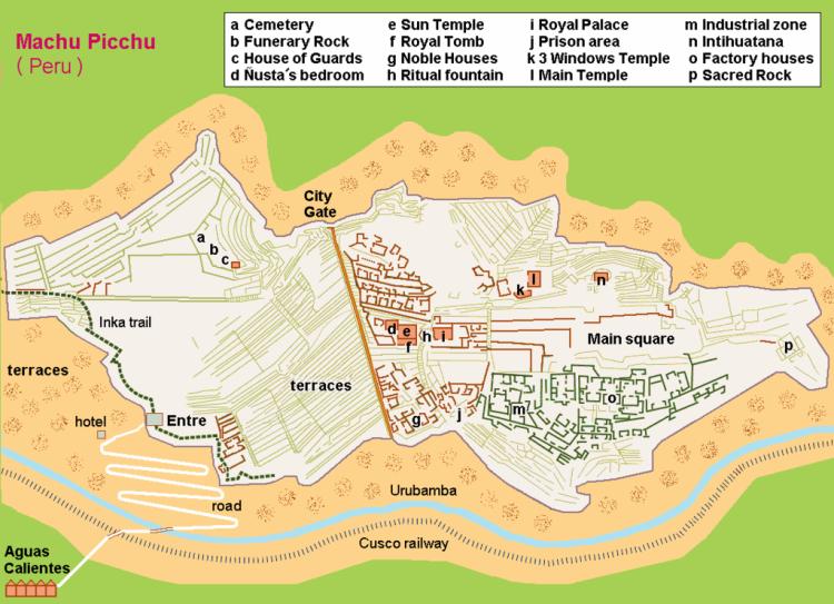Map of Machu Picchu