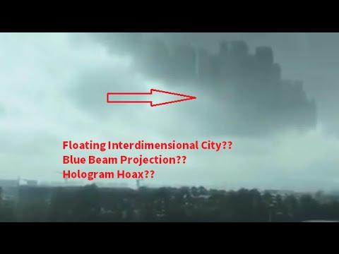 City floats over China