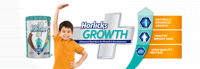 Protein and energy drink Horlicks.