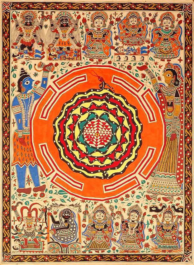 Sri Vidya Diagram with Ten Mahavidyas