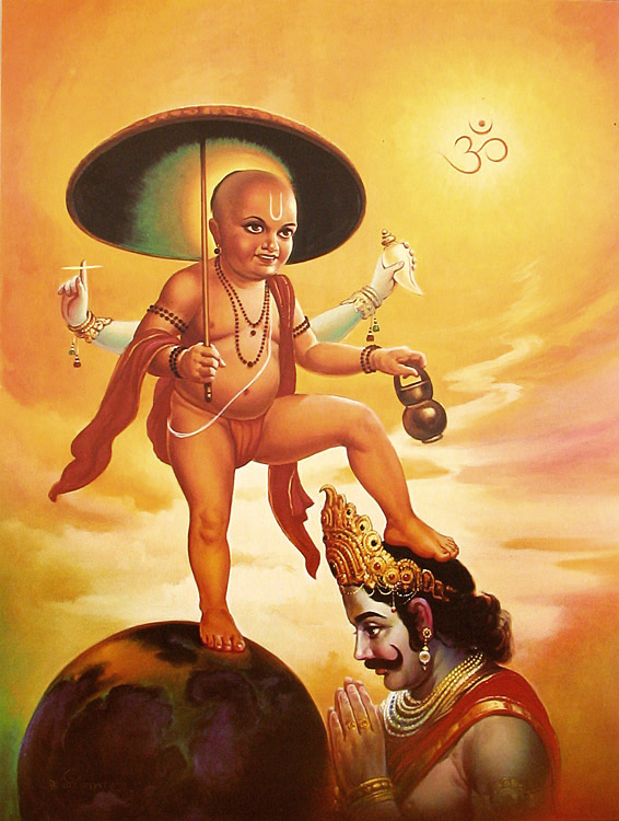 Vishnu as Vamana and Mahabali