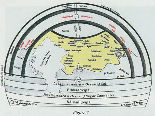 Greater India shown in BhuLoka.