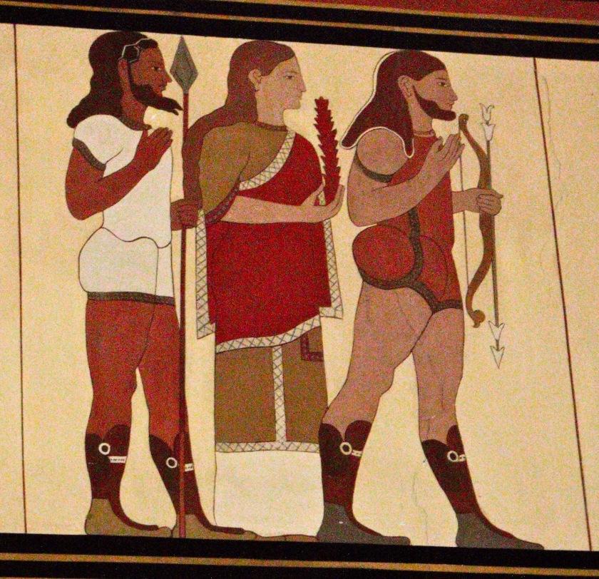 Rama Lakshmana and Sita. Image from Museo Civico Archeologico in Bologna, Italy.