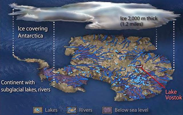 Rivers in Antarctica