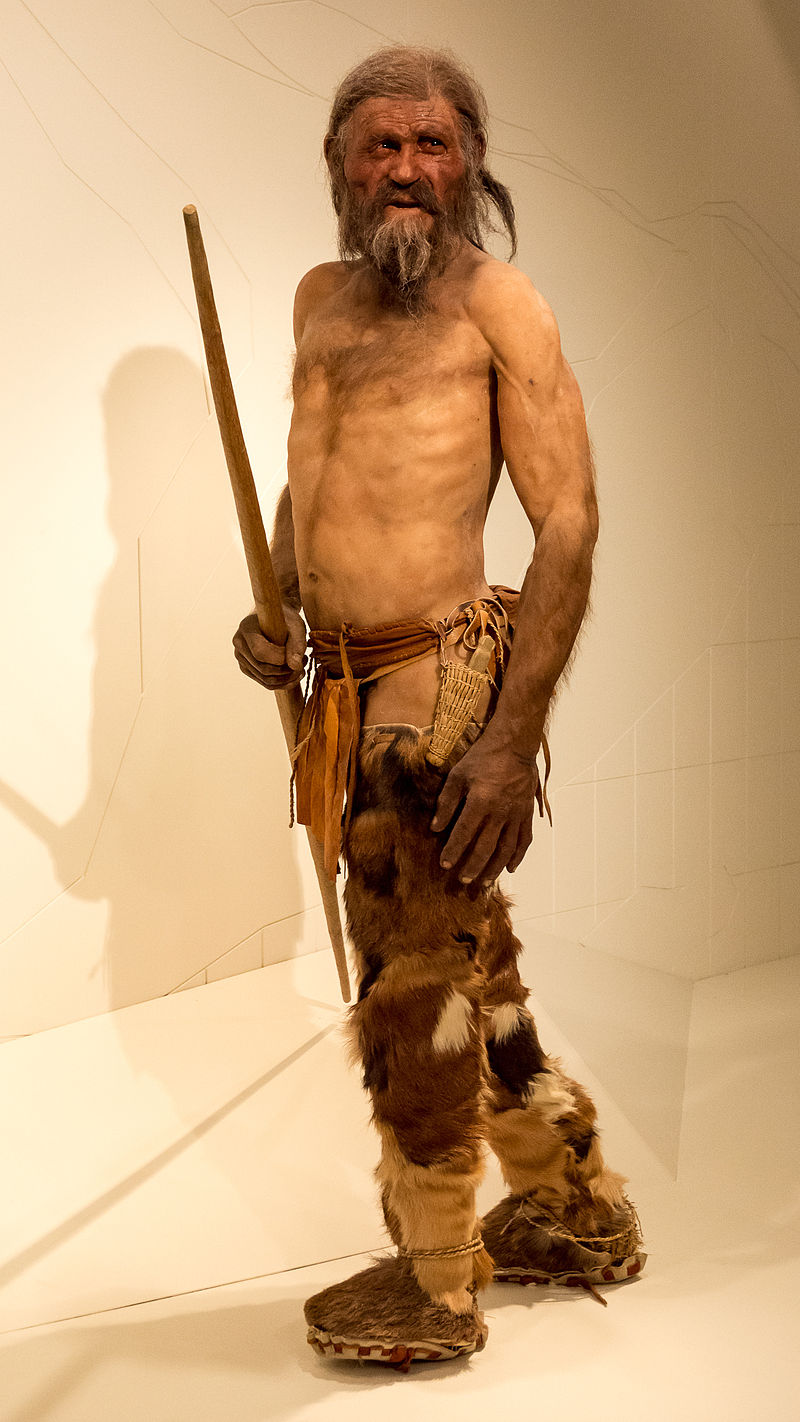 The Otzi Man reconstructed.