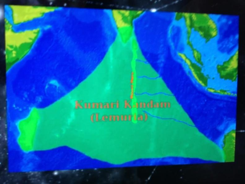 Kumarikandam map the sunken continet