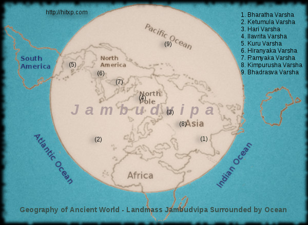 jambudweepa description. Surrounded by Ocean