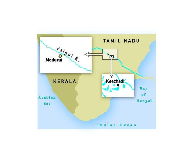 Keezhadi ,Madurai. Location