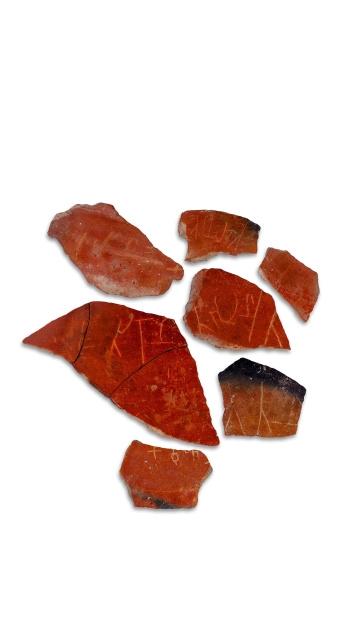 Sangam artifacts. Porsherd with Tamil Brahmi
