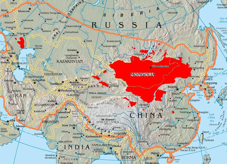 Map of Mongolia