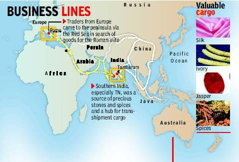 Trade was carried between India and ancient Rome