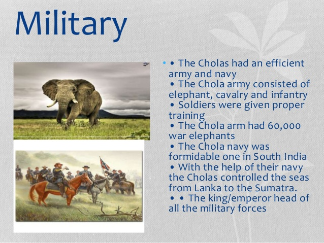 Military might of Cholas