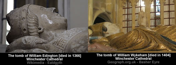 Bodies at Winchester cathedral ,UK.